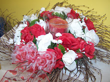 Roses all Around  Floral Arrangement also can be used as a Wreath