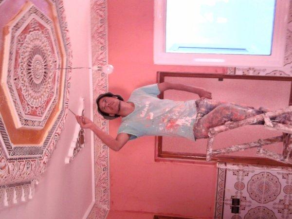 Peinture de batiment et d corations chez mr essalhi novembre 2010 - Retouche peinture plafond ...