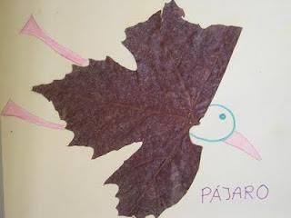 Pájaro de hojas secas