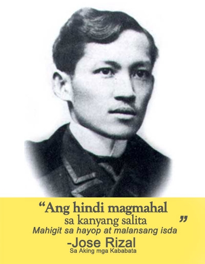 """jose rizal reaction paper in tagalog Reaction paper for the movie """"rizal sa dapitan"""" """"difficulties are not the reasons to give up but an inspiration to move on"""" this dictum i think was on the mind of dr jose p rizal when he was in dapitan."""