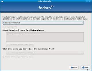 install fedora step 12