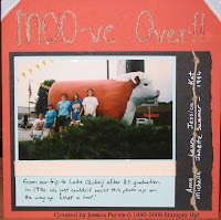 MOOve Over 6x6 Scrapbook Layout
