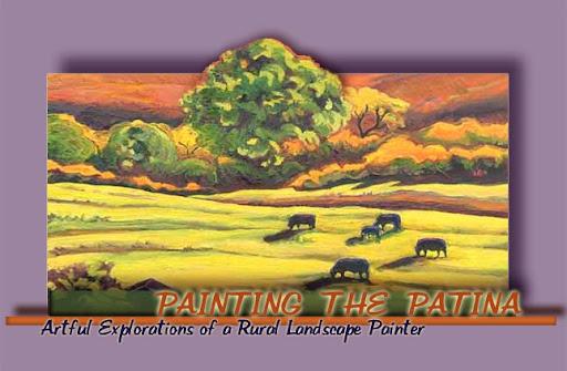 Painting the Patina ~  Gina Grundemann Landscape Painter