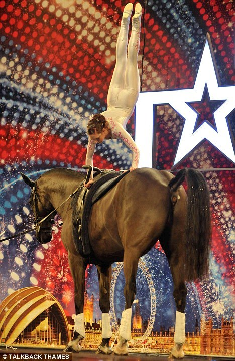 Britains+Got+Talent+Topless+fire+eaters+porn+star+past+11 Animal madness: A gymnast shows off her skills on a horse called Allie, ...