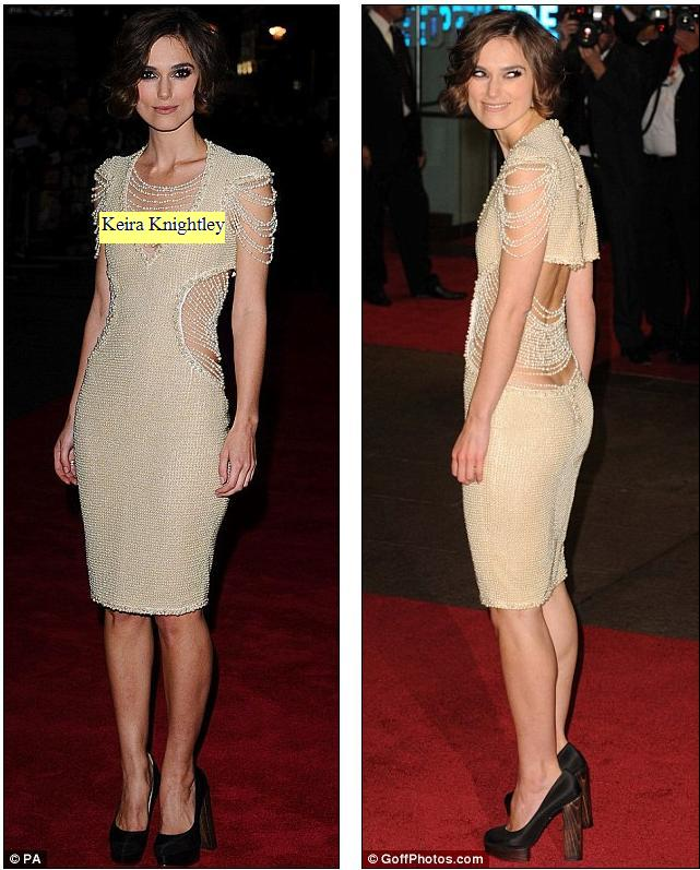 Keira Knightley arrived at the