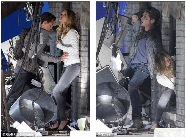 rosie huntington whiteley transformers. Action heroes: Shia and Rosie