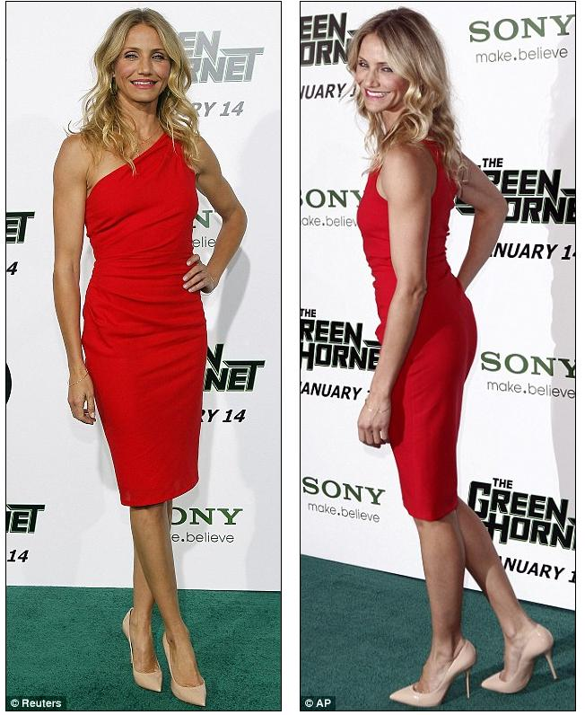 cameron diaz the mask red dress. Lady in red: Cameron Diaz