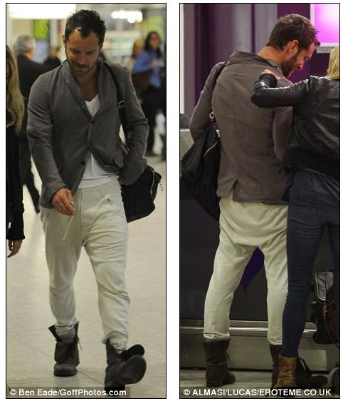 The38-year old stepped out in a pair of cream jogging bottoms which he ...
