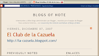 El Club de la Cazuela, nombrado Blog Notable por Blogger