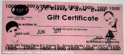 gift certificate from Moms and Kids magazine