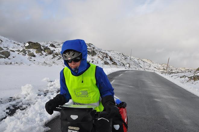 15 cm nysnø på Sognafjellet. Kaldt!!