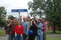 From left to right: Sam, John Schmid, Lorrie, Brad, Craig Renno, Beth, Lloyd and me