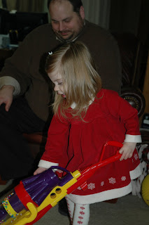 June Cleaver in training - vaccuming in a dress