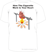 Gallerico - graphic design - the t-shirt design of anti smoke drive - back