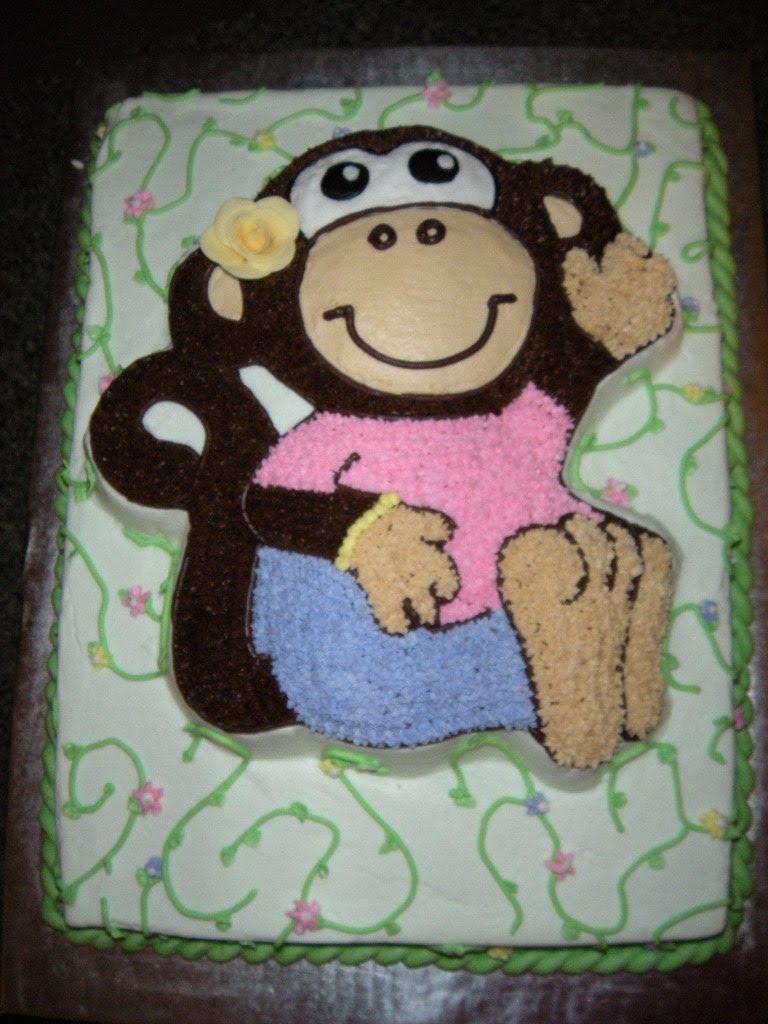 Cake Creations: Girl Monkey cake