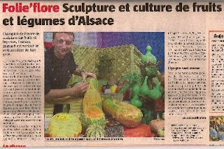 sculpture sur fruits et legumes par cr a 39 saveurs octobre 2009. Black Bedroom Furniture Sets. Home Design Ideas