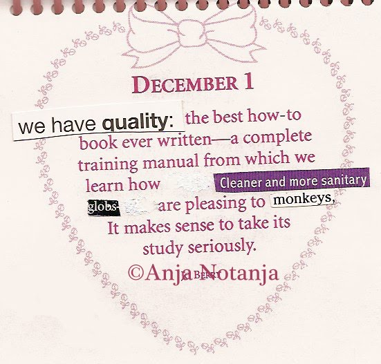 A Calendar Of Altered Quotes By Notanja December 2010