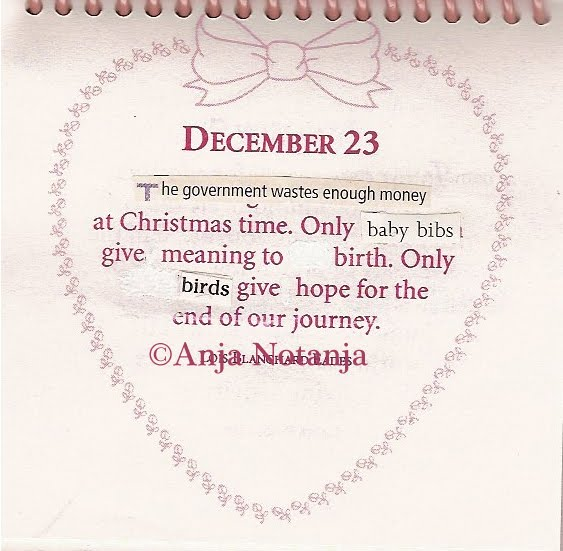 A Calendar of Altered Quotes by Notanja: December 23rd