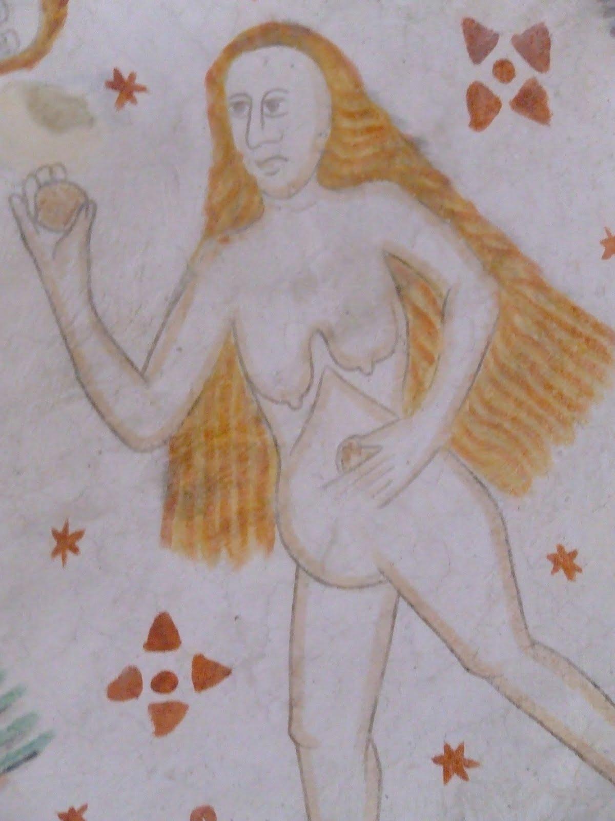 kalkmaleri og djævle