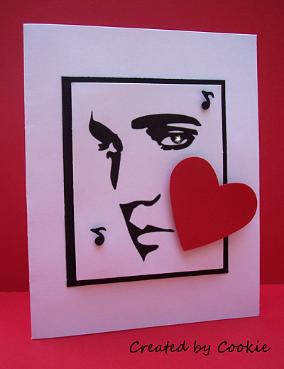 Cards By Cookie Elvis Makes My Heart Sing