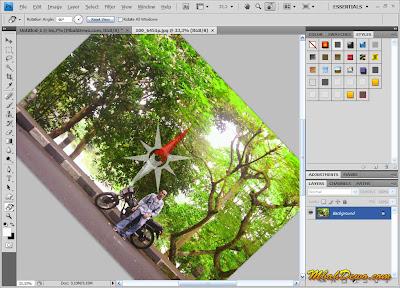 gambar penggunaan rotate view