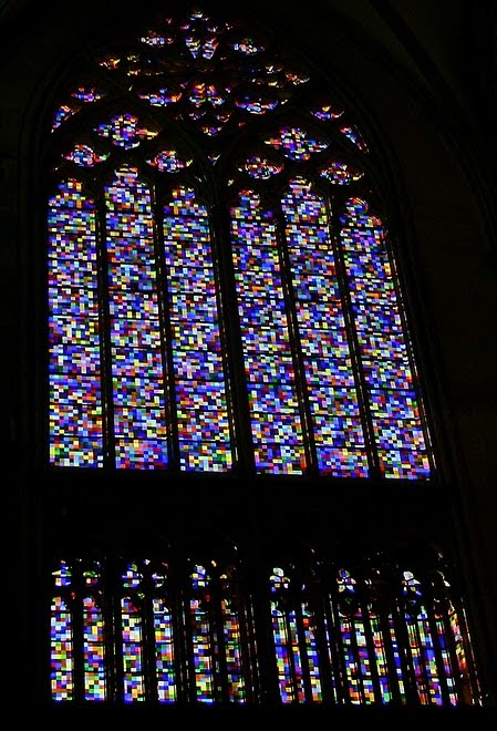 GERMANY-COLOGNE CATHEDRAL:  The Gerhard Richter window / @JDumas