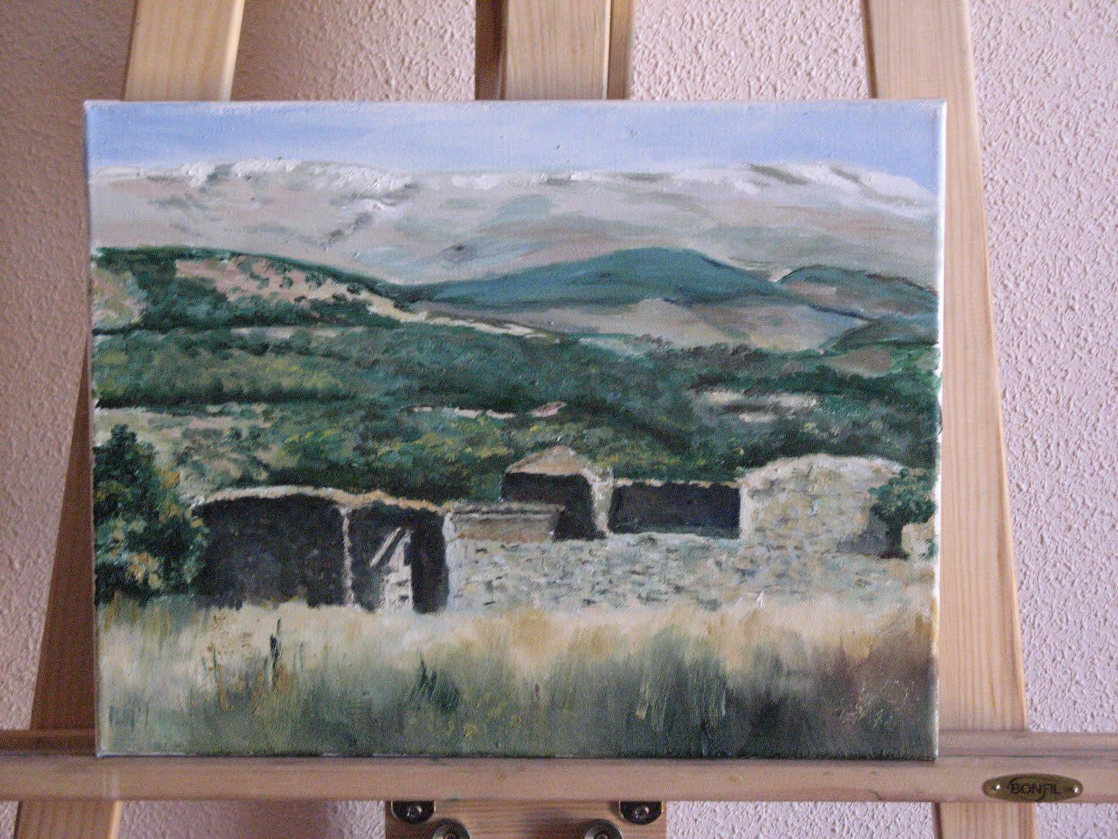 Cuadros al óleo de Bejar y alrededores: Vista de la Sierra