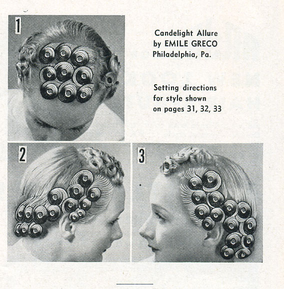 Pin Curls Diagram
