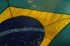 Bandera de Brasil en Porto Alegre - Elecciones 2010