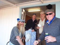 SOME LOCAL CHARACTERS ENJOYING AN ALE OR TWO ON THE GOLF DAY
