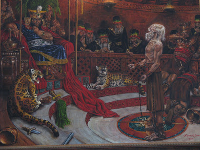 Abinadi Before King Noah - after A. Friberg -