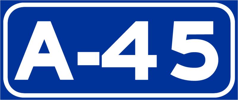 Resultado de imagen de a-45  autovia