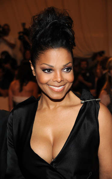 messy up do hairstyles. Janet Jackson Messy Updo