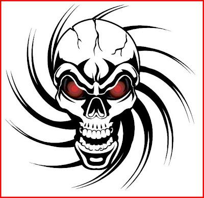 skull tattoo pictures. tribal skull tattoo