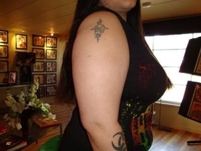 skull tattoos arm. Arm Tribal Skull Tattoo