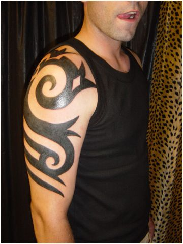 Shoulder Tribal Armband Tattoo