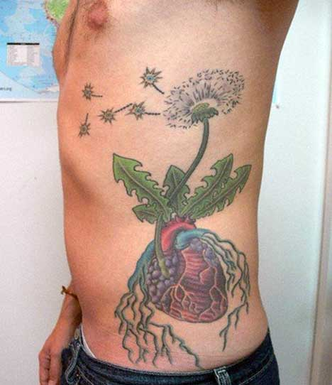 flower hip tattoos