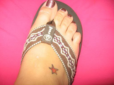 star tattoos on foot - foot. Labels: Coloured Star Tattoo Design on Male