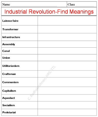 industrial revolution worksheets | Cleverwraps