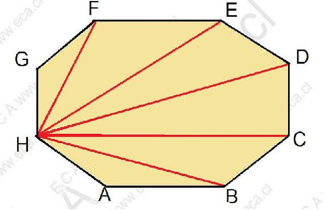 GEOMETRA ECA de enseanza media Nmero de diagonales trazadas