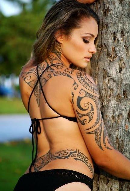 tribal tattoo design for girls