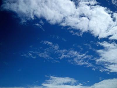 超級藍天白雲
