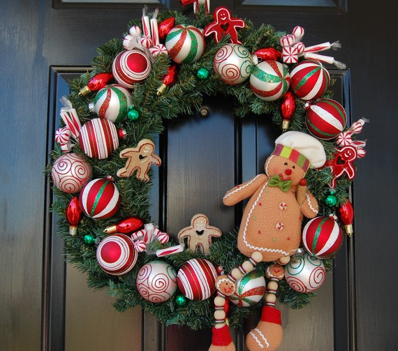 Pixtal Peep Beautiful And Bright Holiday Wreaths