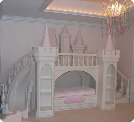 princess castle bed with slide   home decorating ideas
