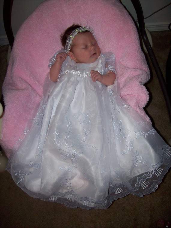 6w old Zailee in her blessing dress