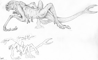 Cloverfield monster sketch