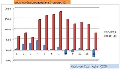 Kazim ayhan özen 2008 yılı enflasyon oranları ve grafikler