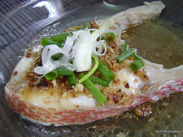 Steam red snapper fillet for Steam fish recipe
