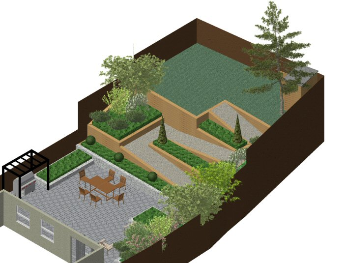 A life designing sloping garden in gerrards cross for Sloping garden designs photos