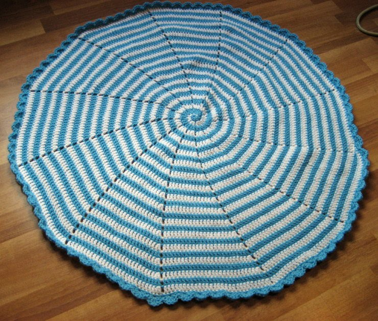 Cthulhu Crochet And Cousins Spiral Baby Blanket With Free Pattern